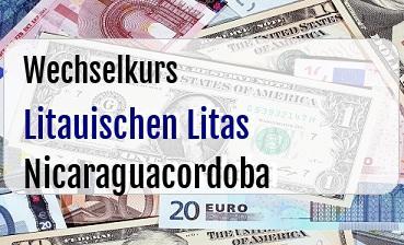 Litauischen Litas in Nicaraguacordoba