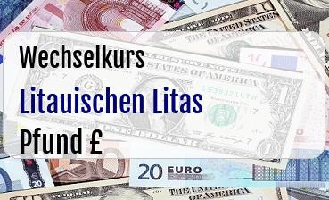 Litauischen Litas in Britische Pfund