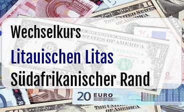 Litauischen Litas in Südafrikanischer Rand