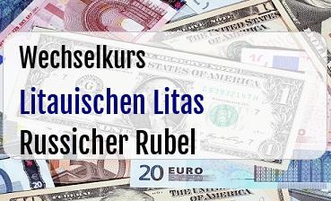 Litauischen Litas in Russicher Rubel