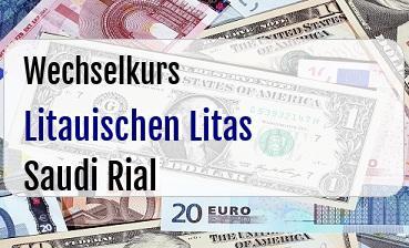 Litauischen Litas in Saudi Rial