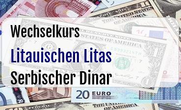 Litauischen Litas in Serbischer Dinar