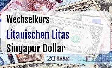 Litauischen Litas in Singapur Dollar