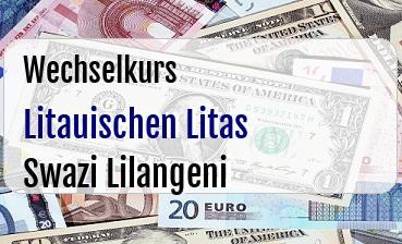 Litauischen Litas in Swazi Lilangeni
