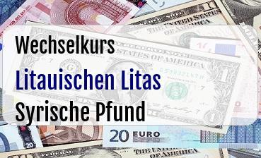 Litauischen Litas in Syrische Pfund