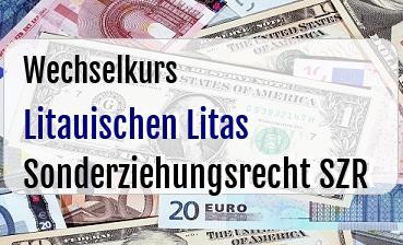 Litauischen Litas in Sonderziehungsrecht SZR