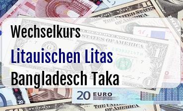 Litauischen Litas in Bangladesch Taka