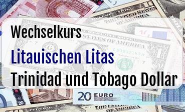 Litauischen Litas in Trinidad und Tobago Dollar
