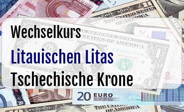 Litauischen Litas in Tschechische Krone