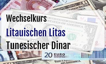 Litauischen Litas in Tunesischer Dinar