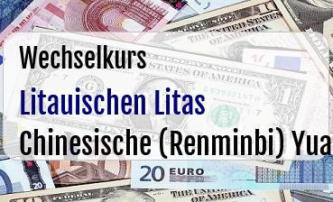 Litauischen Litas in Chinesische (Renminbi) Yuan