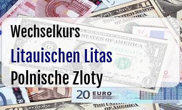Litauischen Litas in Polnische Zloty