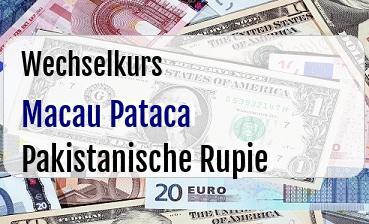 Macau Pataca in Pakistanische Rupie