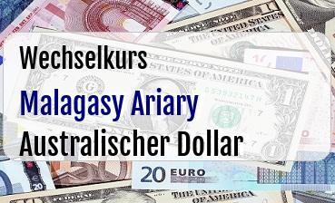 Malagasy Ariary in Australischer Dollar