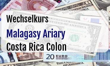 Malagasy Ariary in Costa Rica Colon