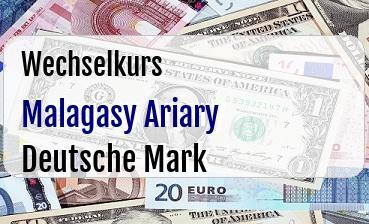 Malagasy Ariary in Deutsche Mark