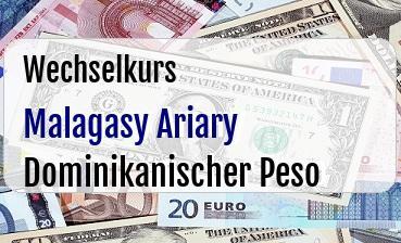 Malagasy Ariary in Dominikanischer Peso