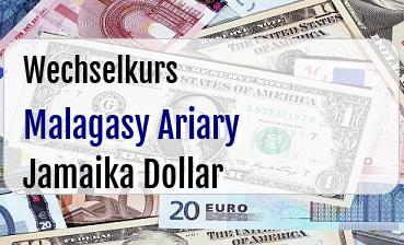 Malagasy Ariary in Jamaika Dollar