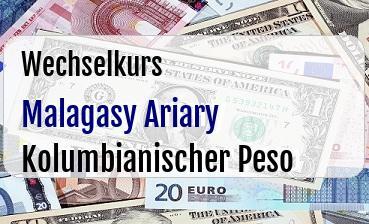 Malagasy Ariary in Kolumbianischer Peso