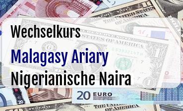Malagasy Ariary in Nigerianische Naira