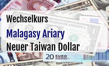 Malagasy Ariary in Neuer Taiwan Dollar