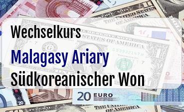 Malagasy Ariary in Südkoreanischer Won