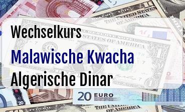 Malawische Kwacha in Algerische Dinar