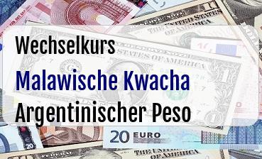 Malawische Kwacha in Argentinischer Peso