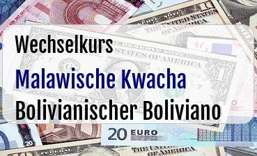 Malawische Kwacha in Bolivianischer Boliviano