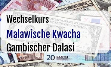 Malawische Kwacha in Gambischer Dalasi