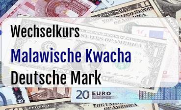Malawische Kwacha in Deutsche Mark