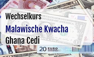 Malawische Kwacha in Ghana Cedi