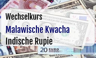 Malawische Kwacha in Indische Rupie