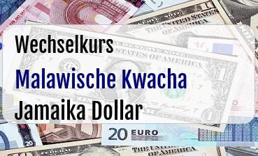 Malawische Kwacha in Jamaika Dollar