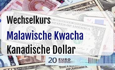 Malawische Kwacha in Kanadische Dollar