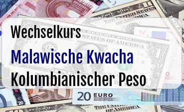 Malawische Kwacha in Kolumbianischer Peso