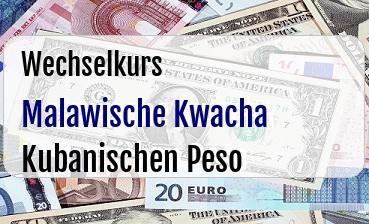 Malawische Kwacha in Kubanischen Peso