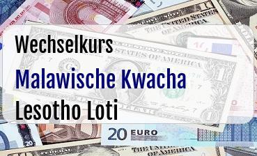 Malawische Kwacha in Lesotho Loti