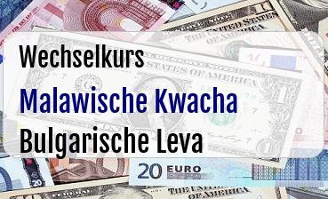 Malawische Kwacha in Bulgarische Leva