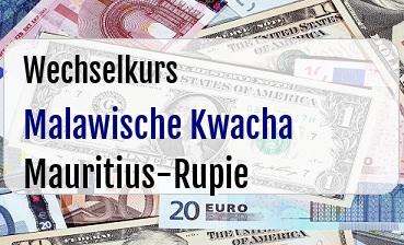 Malawische Kwacha in Mauritius-Rupie