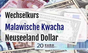 Malawische Kwacha in Neuseeland Dollar
