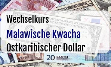Malawische Kwacha in Ostkaribischer Dollar