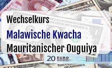 Malawische Kwacha in Mauritanischer Ouguiya