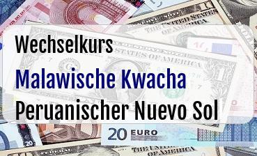 Malawische Kwacha in Peruanischer Nuevo Sol