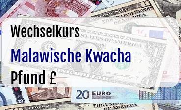 Malawische Kwacha in Britische Pfund