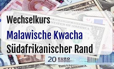 Malawische Kwacha in Südafrikanischer Rand