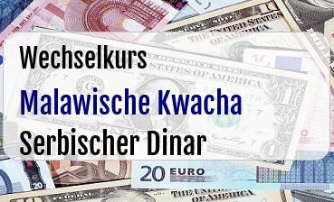 Malawische Kwacha in Serbischer Dinar