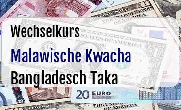 Malawische Kwacha in Bangladesch Taka