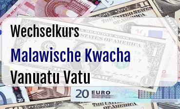 Malawische Kwacha in Vanuatu Vatu