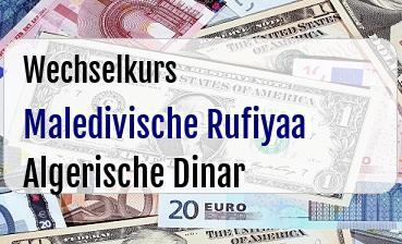 Maledivische Rufiyaa in Algerische Dinar